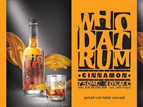 Who Dat Rum Product Label Concept