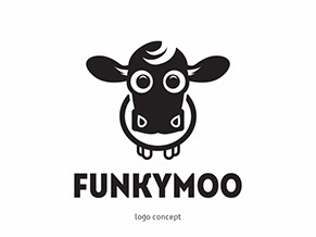 Funky Moo Concept Logo