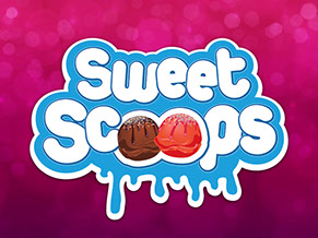Sweet Scoops, Shop Front, Logo, Stationery and Website